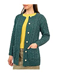 Wool Overs Women's British Wool Aran Cardigan