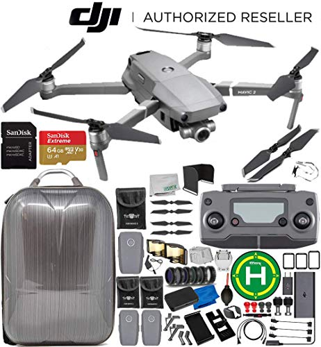 DJI Mavic 2 Zoom Drone Quadcopter with 24-48mm Optical Zoom Camera 3-Battery 64GB Ultimate Bundle