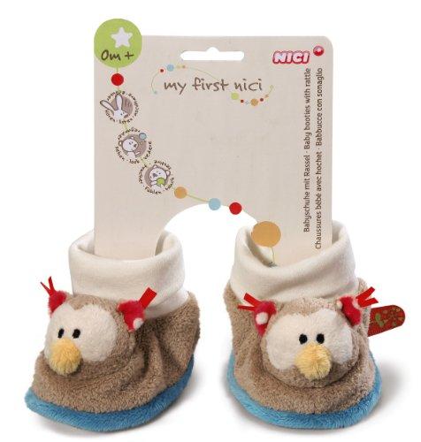 NICI bébé Chaussures Hibou avec hochet peluche