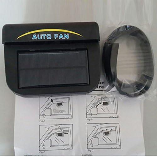 0.8W Leoie Solar Powered Car Auto Cooler Ventilation Fan Automobile Air Vent Exhaust Heat Fan with Rubber Strip Suit for Most Car Window