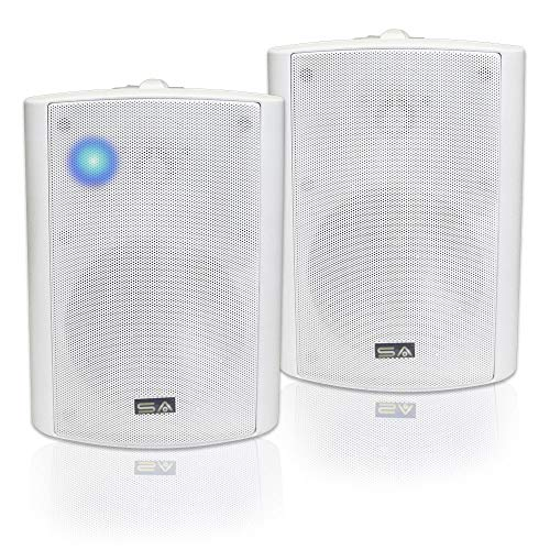New Bluetooth 5.25 Indoor/Outdoor Weatherproof Patio Speakers (White- pair)-by Sound Appeal