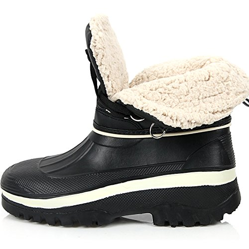 New Lace Up Mens Winter Snow Warm Nero Impermeabile Stivali Leggeri Scarpe