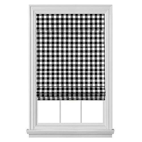 Achim Home Furnishings Cordless Buffalo Check Roman Window Shade, 27