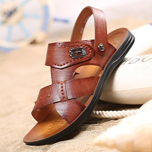 estate Il nuovo Uomini Spiaggia scarpa traspirante Uomini sandali fibra Uomini sandali Tempo libero Uomini scarpa ,Marrone,US=10,UK=9.5,EU=44,CN=46