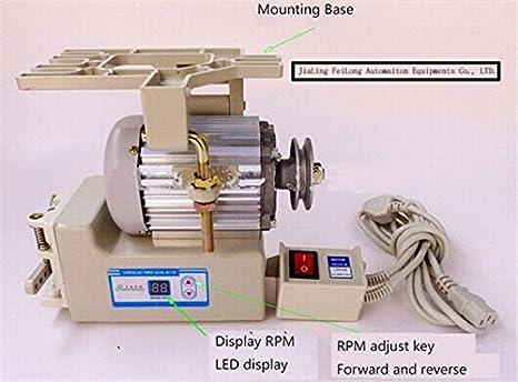 mabelstar Industrial máquina de coser Motor de ahorro de energía, máquinas de coser, servo moto: Amazon.es: Electrónica