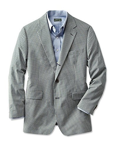 - Orvis Wrinkle-Free Gingham Sport Coat/Long, 44 Blue