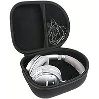 Khanka Headphone Hard Case for Audio-Technica ATH M50-M40, Sony, Panasonic, Xo Vision, Behringer, Maxell, Bose, Photive, Philips, Beats and More - Black
