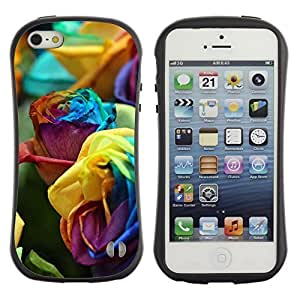 Hybrid Anti-Shock Bumper Case For HTC One M8 Cover Colorful Roses