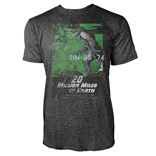 SINUS ART® 20 Million Miles To Earth Herren T-Shirts stilvolles dunkelgraues Cooles Fun Shirt mit tollen Aufdruck