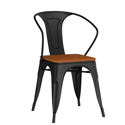 Poltrone In Ferro Battuto Da Giardino.Chair Sedia Tolix In Ferro Battuto Sedia In Legno Massello