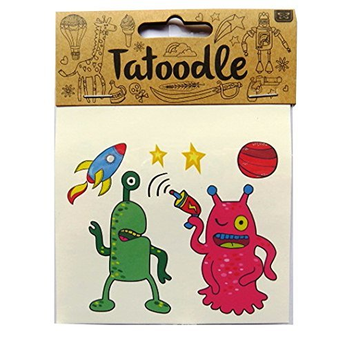 [Tatoodle - Temporary Illustrated Artistic Tattoos - Aliens] (Alien Dress Up Ideas For Kids)
