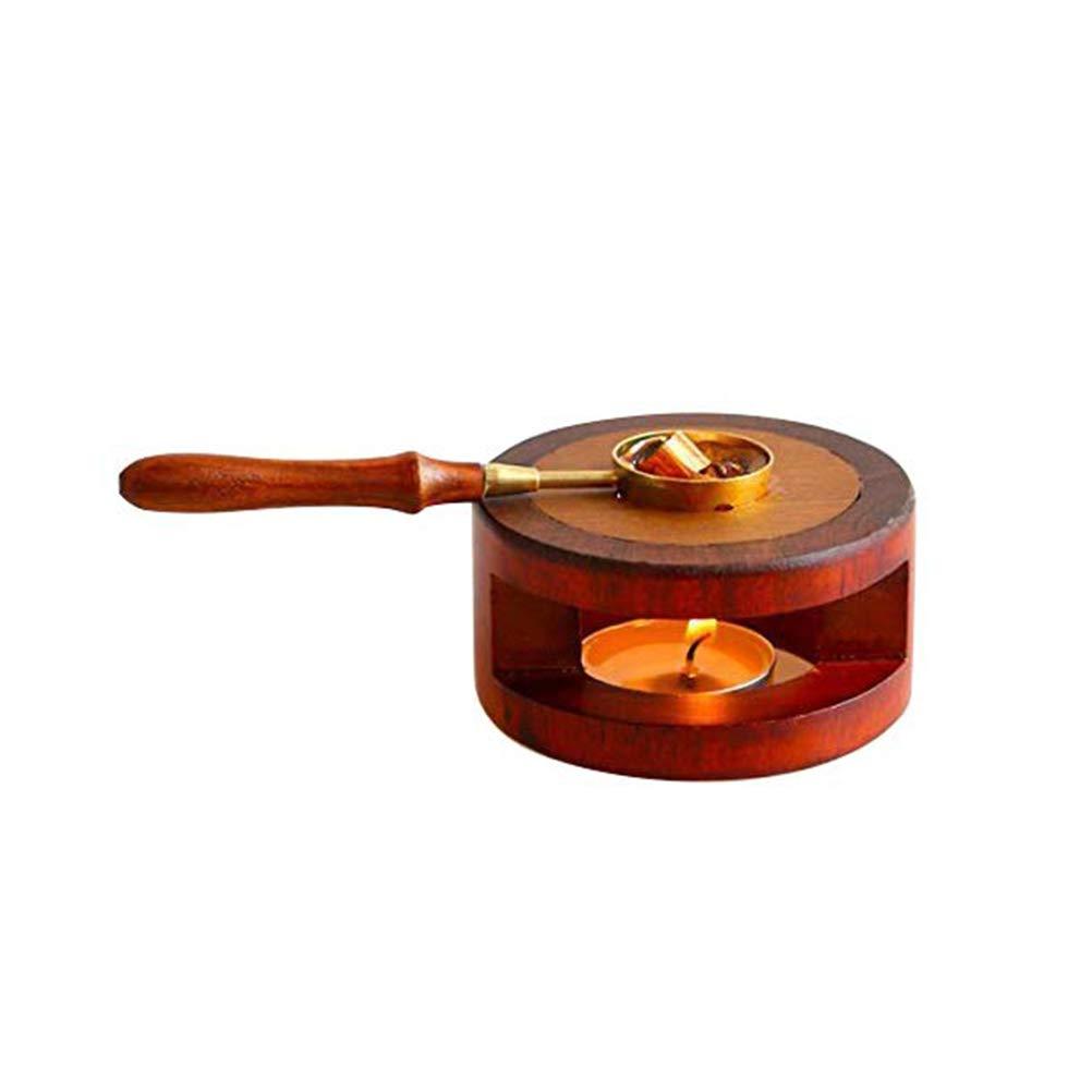 Gutyan Retro Wachs Dichtungs W/ärmer Wachsschmelzofen Wooden Wax Seal Tool Candle Furnace