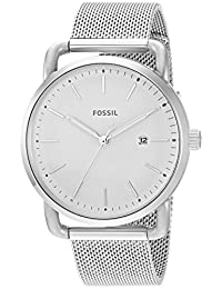 Fossil Women's 'Commuter' Quartz Stainless Steel Casual Watch, Color:Silver-Toned (Model: ES4331)