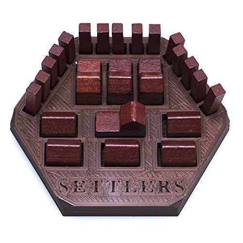 Solid Factory Settlers Game Piece Holder/Organizer (Set of 2 - Green & Brown)
