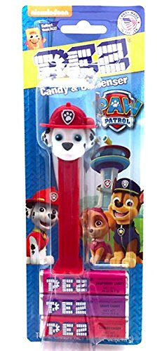 Paw Patrol Marshall Pez Blister Pack with 3 Candy Packs  Nic
