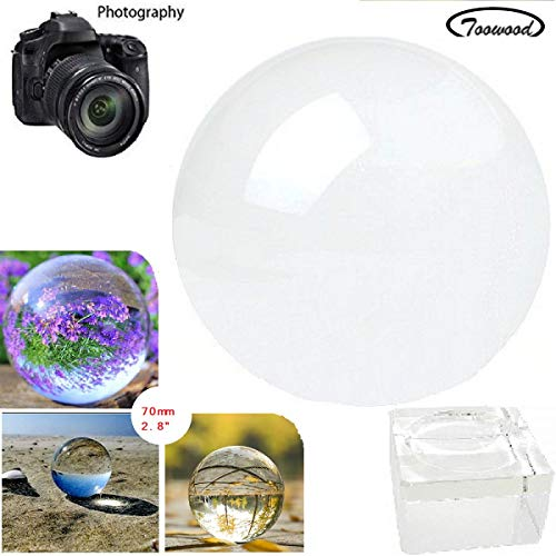 "Toowood 2.76""(70mm) K9 Crystal Ball for Photography..."