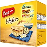 Bauducco Wafers Cookies 6 Pack, Chocolate & Vanilla Crispy and Delicious Breakfast, Snack, Dessert, Care Package, School Lunch, 39.94 oz.