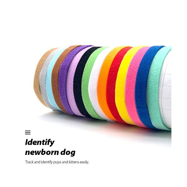 Uiuix-Puppy-Whelping-Collars-15-Colors-Puppy-ID-Collars-Double-Sided-Soft-Adjustable-ID-Bands-for-Newborn-Pet-Dog-Cat