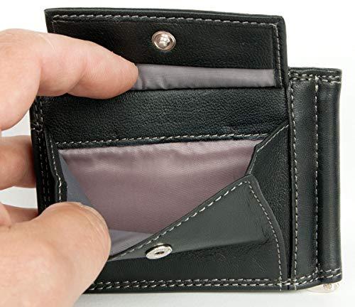 Bifold Monnaie Noir Tacchini Cuir Poche Avec La De D'une Portefeuille Une Véritable Taille Pour Sergio En fRp5Hqaaw