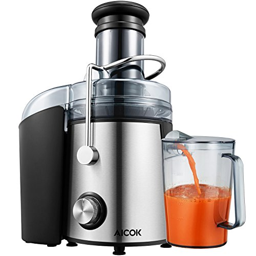 Juicer Aicok Whole Fruit Juicer with 75mm Wide Mouth, 800W Centrifugal  Power Juicer, Juicer for Fruit and Vegetables, 2 Speed with Juice Jug and
