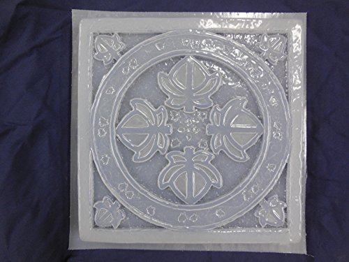 Ivy Leaf Pattern Stepping Stone Concrete or Plaster Mold 1154