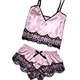 Women Sexy Lingerie Lace Babydoll Nightdress Mesh Chemise V Neck Sleepwear Rose