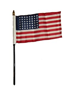 "Wholesale Lot of 12 USA American 48 Star 4""x6"" Desk Table Stick Flag PREMIUM Vivid Color and UV Fade BEST Garden Outdor Decor Resistant Canvas Header and polyester material FLAG"