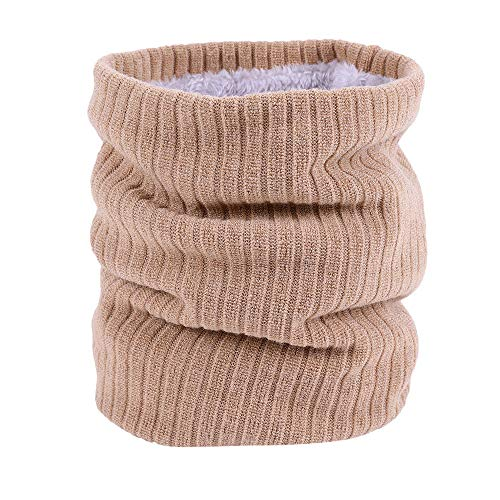 URIBAKE Unisex Infinity Scarf Wool Knitted Solid Neck Warmer Wrap Shawl Loop ()