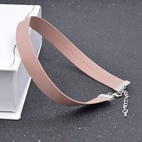 Kaputar Hot Charming Women Leather Choker Gothic Collar Statement Necklace Chain Jewerly   Model NCKLCS - 20139   ()