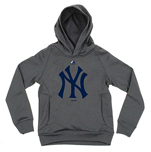 MLB Youth Performance Primary Logo Pullover Sweatshirt Hoodie (X-Large 18/20, New York Yankees)