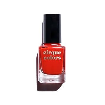 Cirque Colors Crème Nail Polish - Doyers - Bright Cherry Red - 0.37 fl. oz.  (11 ml) - Vegan, Cruelty-Free,...