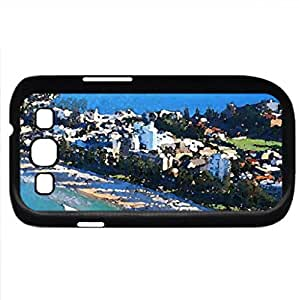 manly beach by the city of sydney (Beaches Series) Watercolor style - Case Cover For Samsung Galaxy S3 i9300 (Black)