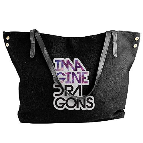 Costume Ideas Jetson (Imagine Dragons Women Canvas Stripe Handbag Cross Body Shoulder Bags Tote Satchel Messenger)