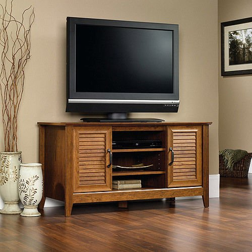 Wood Media Stand (TV Stand Entertainment Media Center Flat Screen Storage Console Wood)
