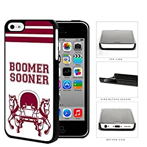 Boomer Sooner School Spirit Slogan Chant iPhone 5c Hard Snap on Plastic Cell Phone Cover