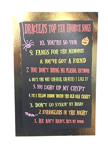 Halloween Card For Anyone(Dracula's Top Ten Favorite Songs...)American Greetings pk of (Halloween 10 Songs)