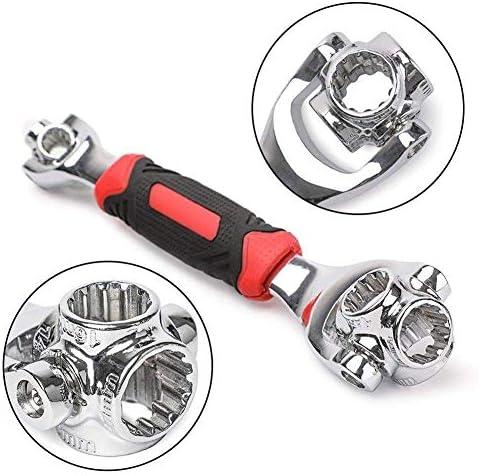 ZJN-JN レンチ 万能レンチ Raitool 48 1ソケットレンチ多機能でユニバーサルレンチ360度リボルビングスパナハードウェアツールキット 車・バイク修理 DIY工具