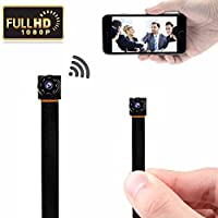 Mini Hidden Camera WiFi Small Portable Spy Camera Wireless Nanny Camera Indoor Video Recorder HD 1080P Home Monitoring Security Cam with Cell Phone iPhone App
