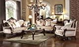 Inland Empire Furnitures Shoshone Chenille And Satin Formal Sofa, Love Seat, Chair and Marble Top Coffee Table