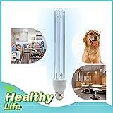 BRIGHTINWD Healthy Life- LED 110V UV Ozone Sterilization Quartz Lamp 15W E27 Base Anti-Bacterial Rate 99% Ultraviolet Disinfection Germicidal Lights