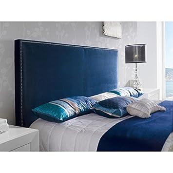 Generique Tete De Lit Pour Lit 180 Cm En Velours Bleu Marine