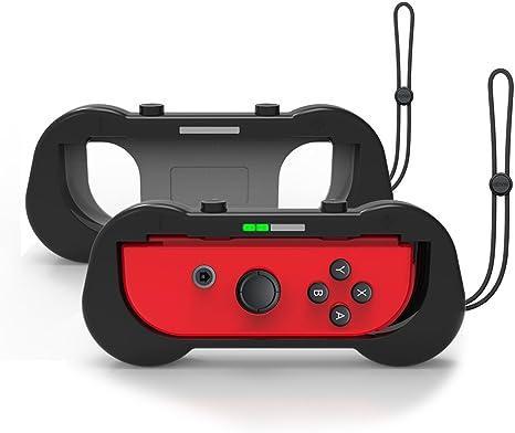 J&TOP Joy-Con Grips para Nintendo Switch, resistente al desgaste, mango de control para Nintendo Switch Joy Con, 2 unidades (negro): Amazon.es: Electrónica