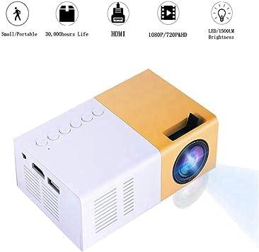 Mini Proyector, 1500lm de Alto Brillo 1080P Proyector de Video LED ...