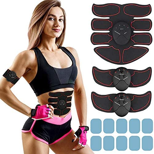 MORPHEUS MAX Muscle Trainer Workout Belt Body Training Abs Workout Equipment Abdominal Training Portable Unisex Fitness Gear for Abdomen/Arm/Leg Training Home Office Exercise (black) (black) (black) 1