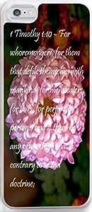 Case For Iphone Dseason, Iphone 5c Case New Slim Unique Design Christian Quotes Large powder chrysanthemum