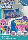 My Little Pony: The Movie (2017) 5pc Full Bedding Sheet Set Bundle with Painting Book