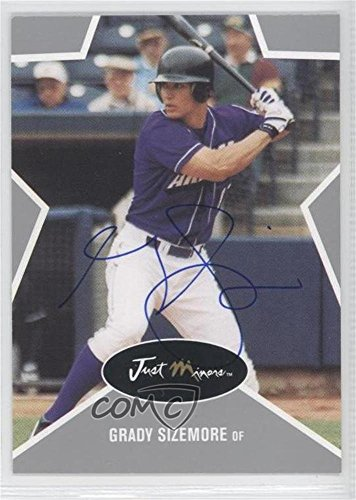 Grady Sizemore #8/375 (Baseball Card) 2003 Just Minors Just Stars - [Base] - Silver Autographs [Autographed] #43
