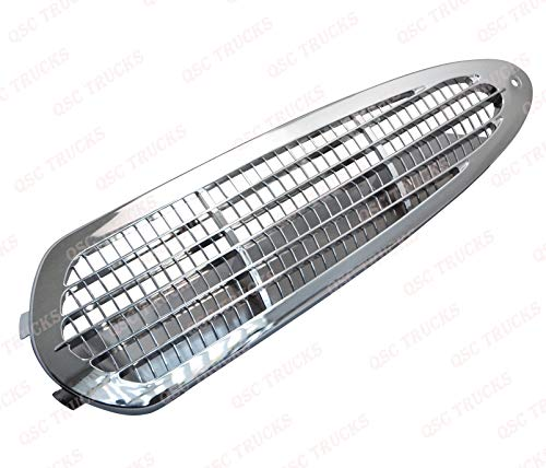Intake Chrome - QSC Chrome Mesh Intake Vent Side Upper Grille for Freightliner M2 100 106 112