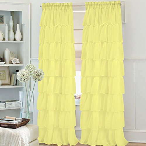 ruffled stitched curtain treatment different