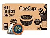 San Francisco Bay OneCup Espresso Roast (80 Count) Single Serve Coffee Compatible with Keurig K-cup Brewers Single Serve Coffee Pods, Compatible with Keurig, Cuisinart, Bunn Single Serve Brewers Review